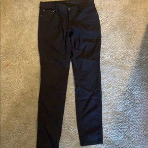 Prana black pants with detailing on sides